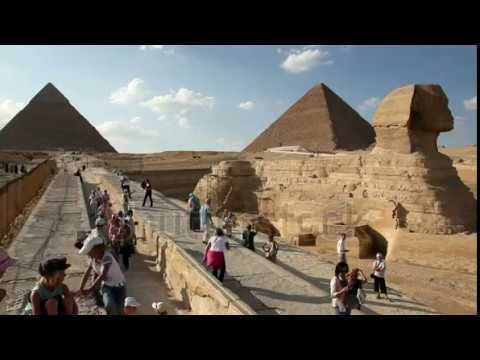 GIZA, EGYPT Tourists Visit The Sphinx And Great Pyramid In Egypt,, Giza