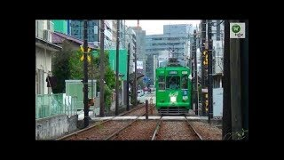 【専用軌道】熊本市電1350形(1352) 洗馬橋~新町 Kumamoto City Tram