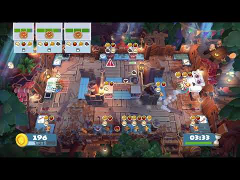 Overcooked 2 Campfire Cook Off 1-3 solo 4 stars |