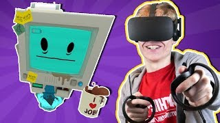 NEW INFINITE OVERTIME VR UPDATE! | Job Simulator: Night Shift (Oculus Touch Gameplay)