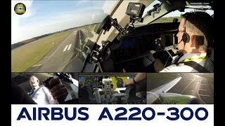 MUST SEE! Bombardier CS300 Cockpit Takeoff: Air Baltic Multicam, WORLD EXCLUSIVE! [AirClips]
