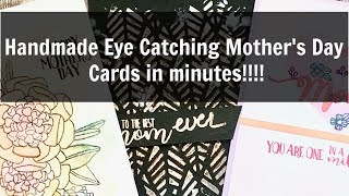 Handmade Quick and Easy Mothers Day Cards: Catherine Pooler Video Hop creativation