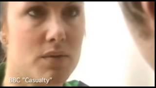 Rebekah Gibbs stars alongside James Redmond in Casualty (Archive)