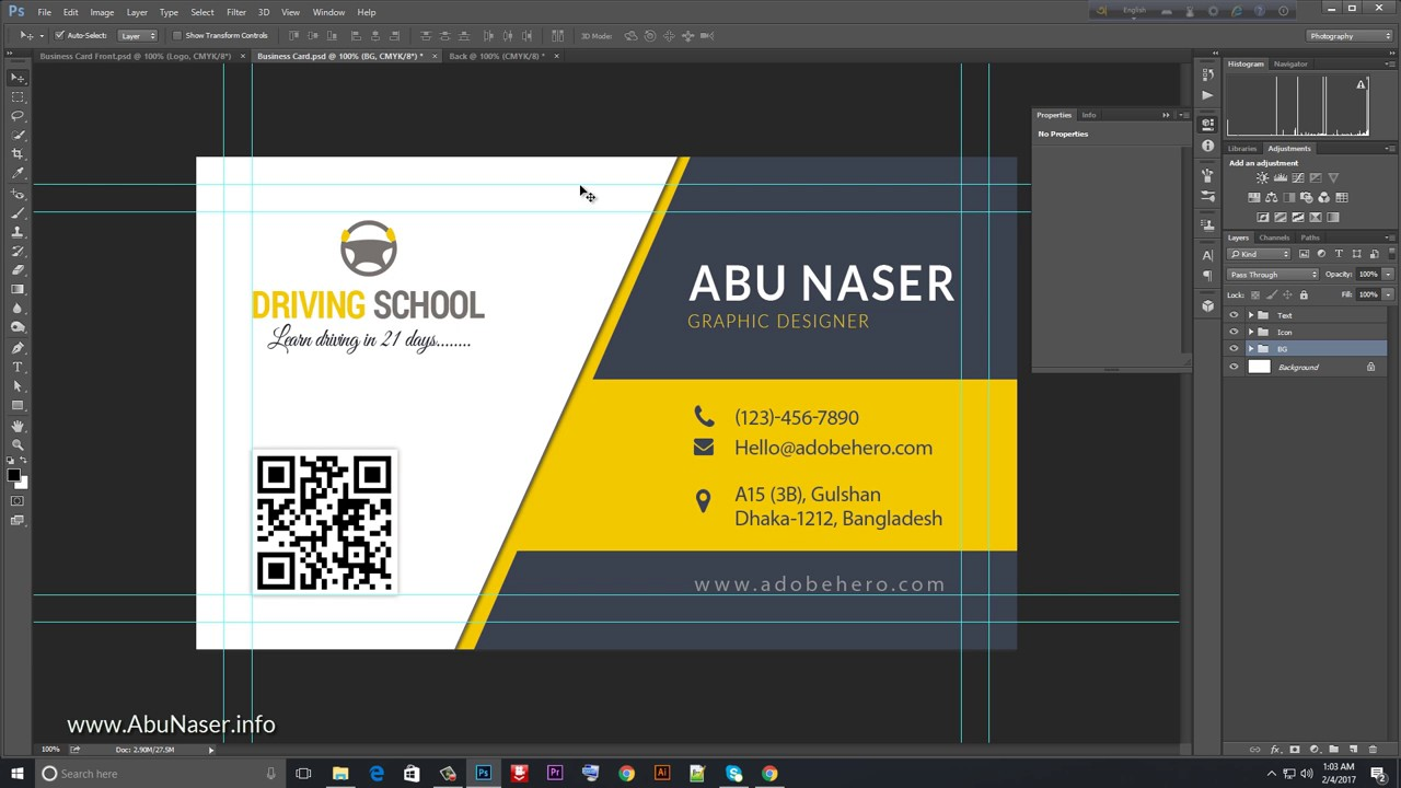 Bangla Business Card Design Tutorial   গ্রাফিক রিভার এর জন্যে বিজনেস কার্ড ডিজাইন করুন 1