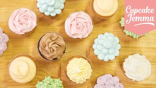 One of CupcakeJemma's most viewed videos: Buttercream Piping Tips & Techniques | Cupcake Jemma
