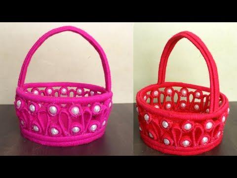 DIY News Paper Basket    Easy Woolen Craft Idea    Newspaper Craft