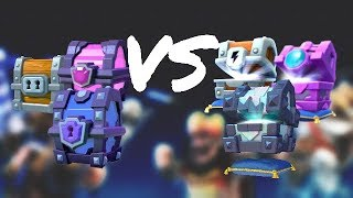 CLASH ROYALE - OLD CHESTS VS NEW CHESTS(ROYAL CHESTS)