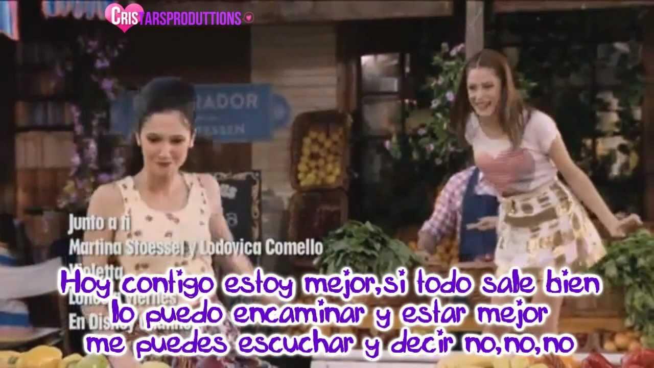Junto A Ti Violetta Y Franchesca Video Oficial Con Letra Youtube