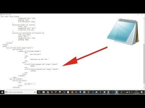 b9ba84d462f CODER UN SITE WEB DANS UN BLOC NOTE ! (Très chiant) ! ! ! - YouTube