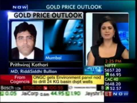 Prithviraj Kothari, MD, RiddiSiddhi Bullion (RSBL) speaking on Gold prices Outlook in India