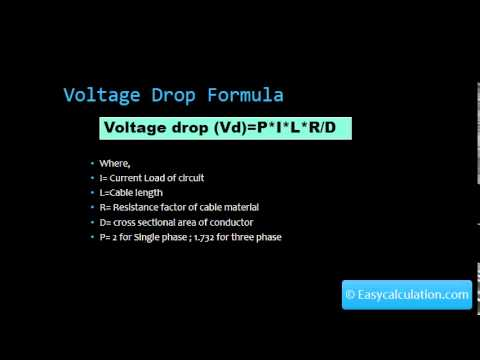 Voltage drop calculator formula youtube voltage drop calculator formula greentooth