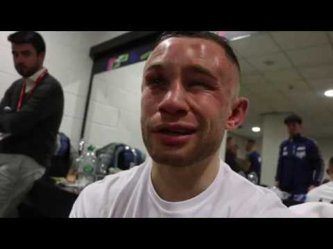 CARL FRAMPTON REACTS TO DEVASTATING WORLD TITLE DEFEAT TO JOSH WARRINGTON IN MANCHESTER
