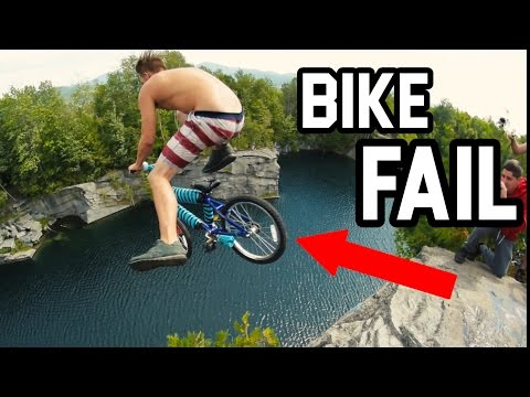 RIDING A BIKE OFF MASSIVE CLIFF!  (70 ft)