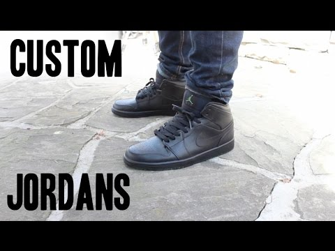 30 SEC. ON-FOOT  JORDAN 1  BLACKOUT  CUSTOM - YouTube ebe00dfa3
