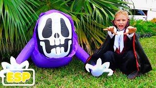 Vlad y Nikita tienen una fiesta de Halloween