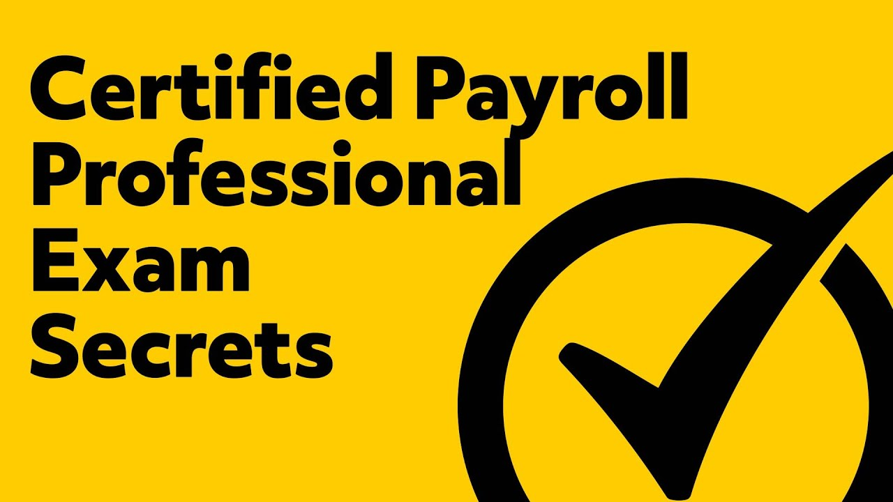 Certified Payroll Professional Study Guide Award Payments And