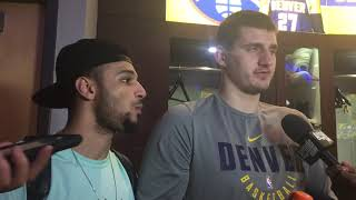nikola jokic jamal murray postgame cleveland cavaliers denver nuggets january 19 2019
