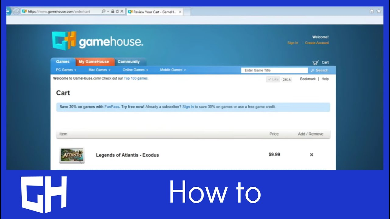 Buying a Game on GameHouse