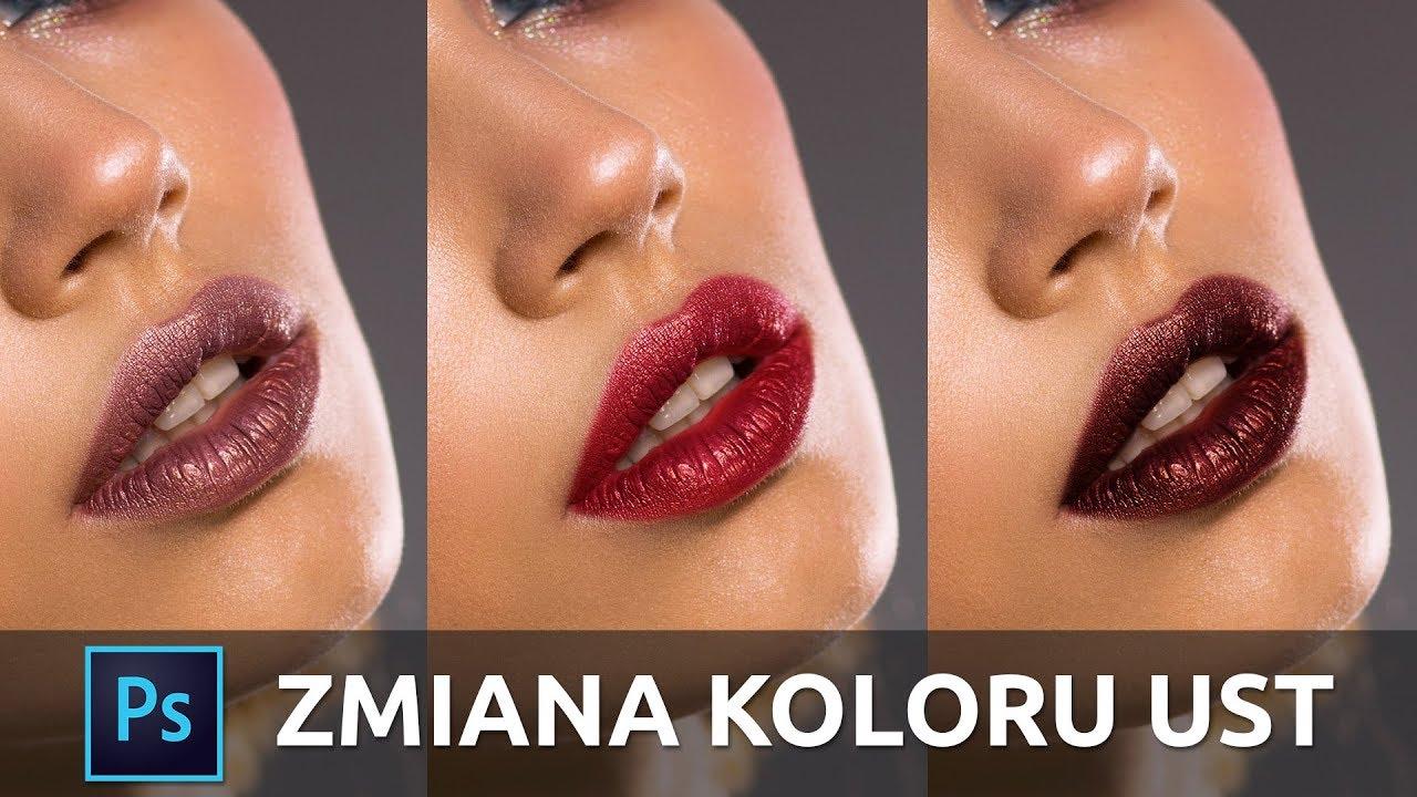 Zmiana koloru ust w Photoshopie | exciting.pl
