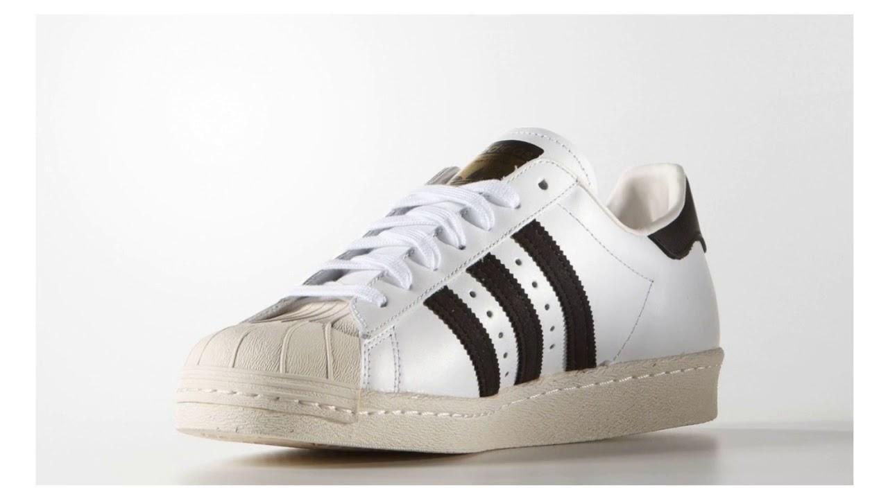 Adidas Superstar 80s bílé G61070 - YouTube