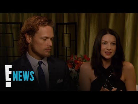 "Sam Heughan Plays With ""Outlander"" Baby Bump 