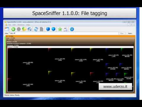 SpaceSniffer: File tagging