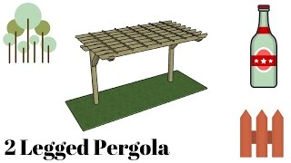 FULL PLANS at: http://myoutdoorplans.com/pergola/2-post-pergola-plans/ SUBSCRIBE for a new DIY video every single week! If