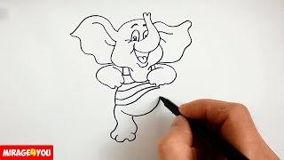 Как Нарисовать Слона - персонаж мультфильма