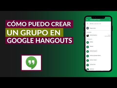Cómo Puedo Crear un Grupo en Google Hangouts