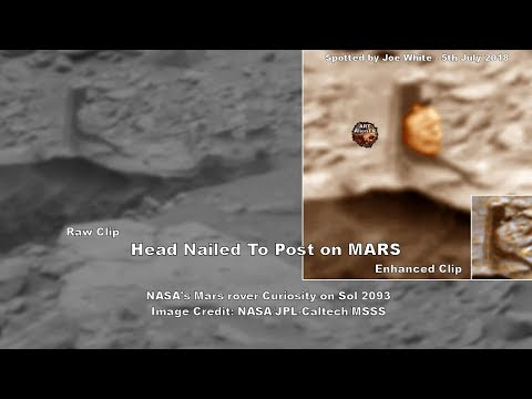 👽 Head Nailed to Post on MARS - Tribal Marker - ArtAlienTV