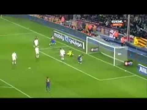 Barcelona 2 0 Osasuna    24 03 2010 Messi Hat Trick Goals & Full Highlights HQ