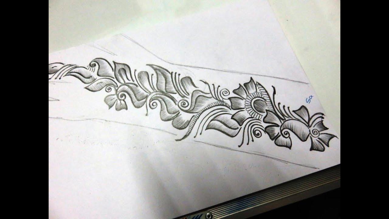 Mehndi Drawing Photos : How to draw arebian mehndi design shape youtube