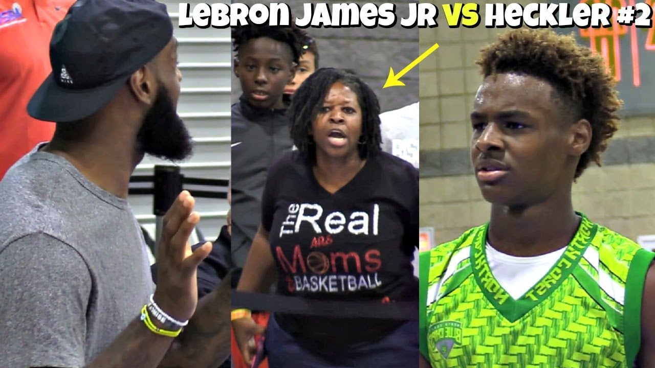 9114d8f507cd LeBron James Jr HUSHES Another Heckler! BREAKS Defenders Ankles with LBJ  Coaching