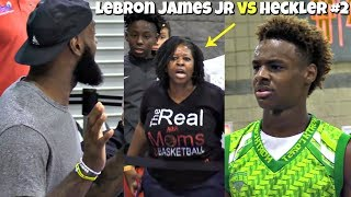 LeBron James Jr HUSHES Another Heckler! BREAKS Defenders Ankles with LBJ Coaching