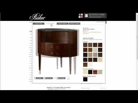 Baker Furniture Website - Finding Product Information