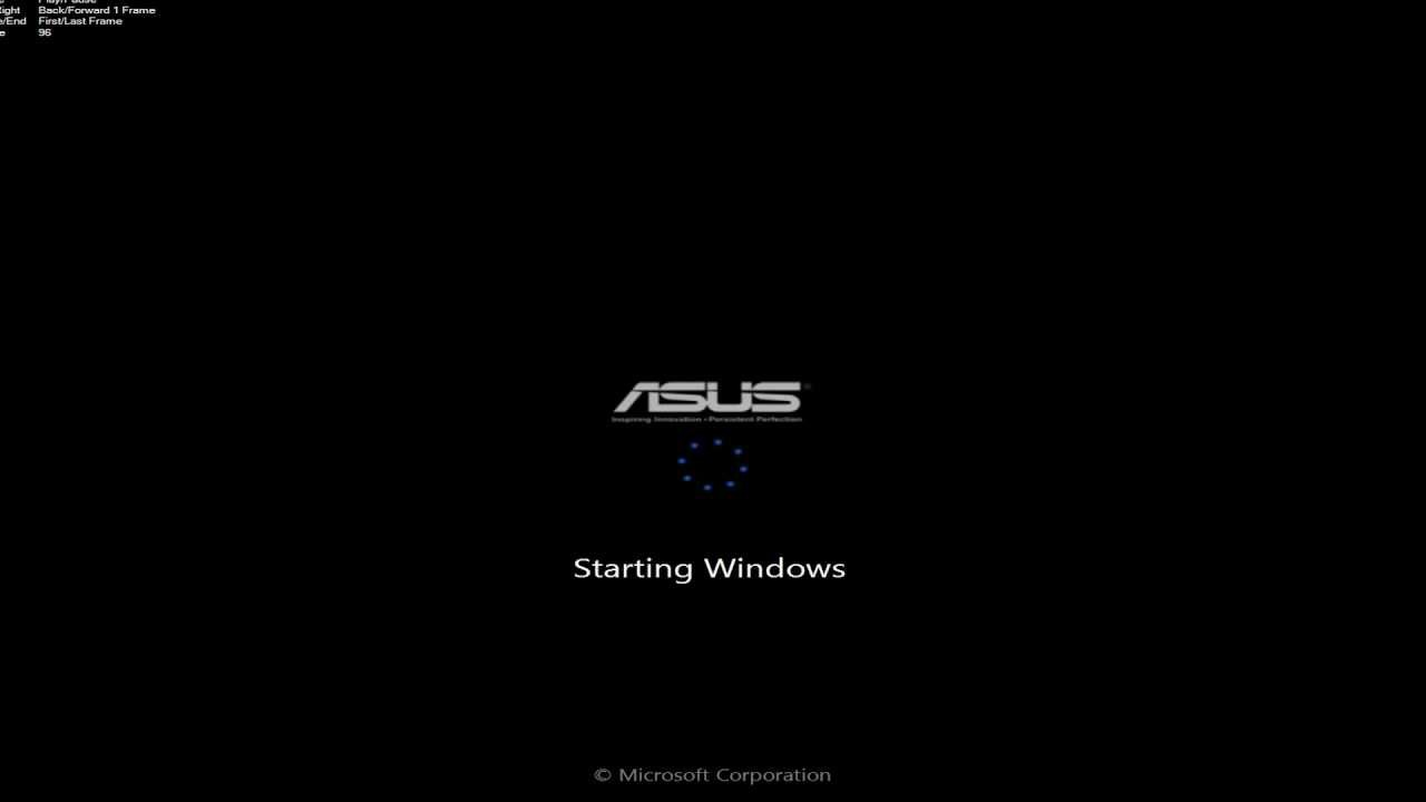 Asus boot animation - YouTube
