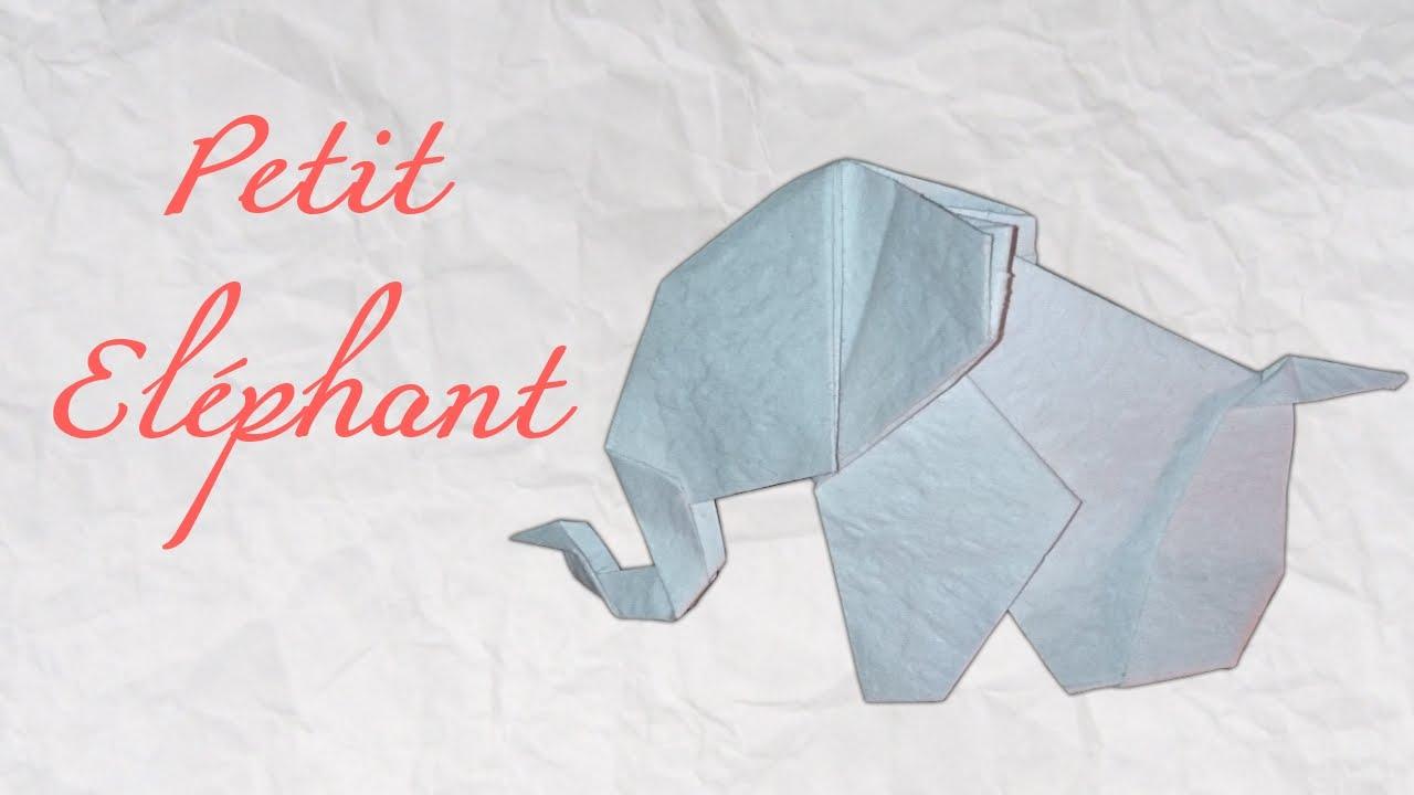 tuto origami elephant