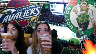 CLEVELAND vs. BOSTON BASKETBALL VLOG! MY FIRST GAME!