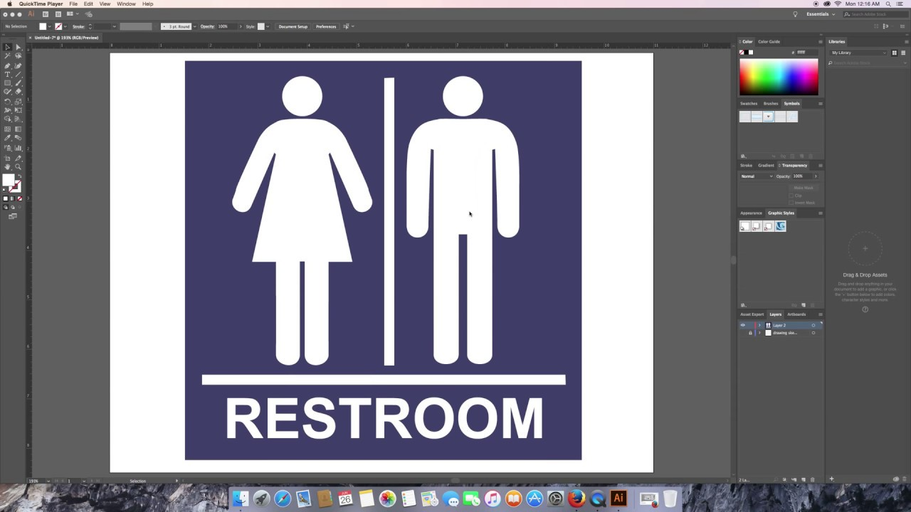 Bathroom Sign Graphics how to create a bathroom sign graphics for beginners part 2 - youtube