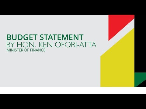 Ghana : 2018 budget Statement And Economic Policy