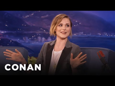 Evan Rachel Wood: George Clooney Tricked Me Into The Pool  - CONAN on TBS