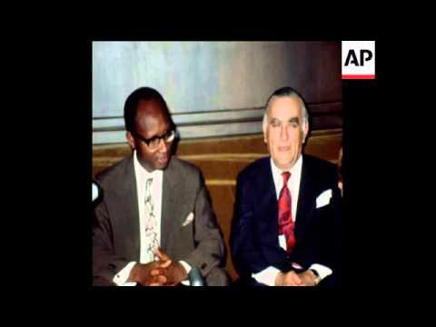 LIB 2-11-72 PRESIDENT JAWARA OF THE GAMBIA IN LEBANON SPEAKS TO PRESS