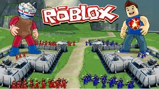 Roblox | BASE VS BASE CONQUEST - Tiny Army Battles! (Roblox Adventure)
