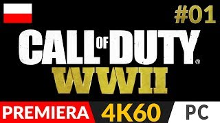 CALL OF DUTY: WW2 PL 🌍 odc.1 (#1) ✌️ Kampania - Normandia   COD: WWII gameplay po polsku [4K PC]