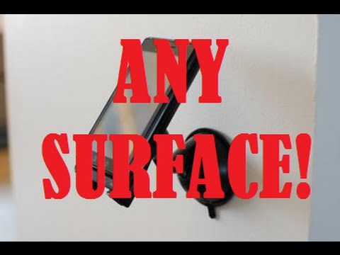 How to make a suction cup stick to any surface!!