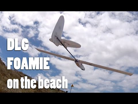 DLG style  foamie on the beach