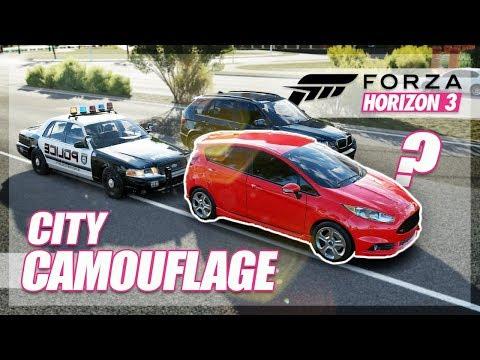 Forza Horizon 3 - CITY CAMOUFLAGE! (Mini Games & Funny Moments)