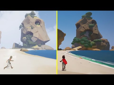 RiME Reveal Trailer 2013 vs 2017 Retail PS4 Pro Graphics Comparison