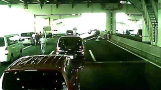 宮崎文夫 糞BMW首都高バトルで多重事故クラッシュドラレコ