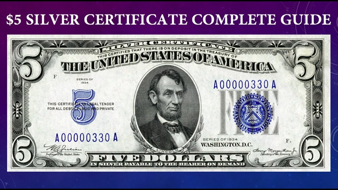 Silver Certificate 5 Dollar Bill Complete Guide What Is It Worth